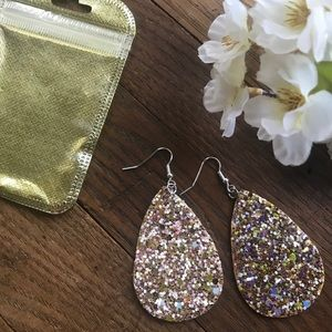 NWT Sparkly Gold Earrings